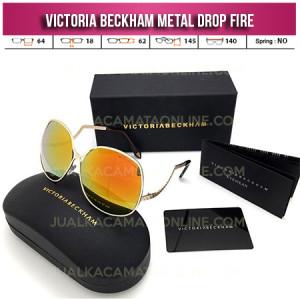 Toko Kacamata Victoria Beckham Square Metal Drop Fire