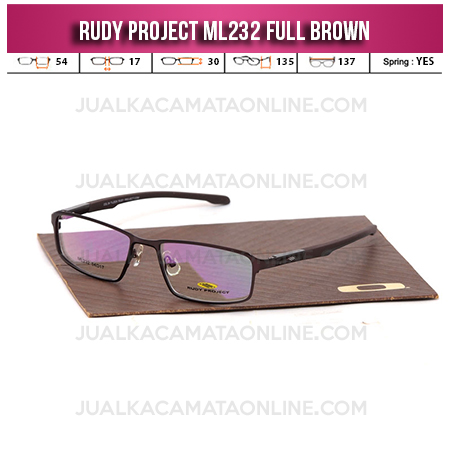 Model Frame Kacamata Terbaru Rudy Project ML232 Brown