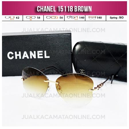 Jual Kacamata Chanel Terbaru 15118 Brown