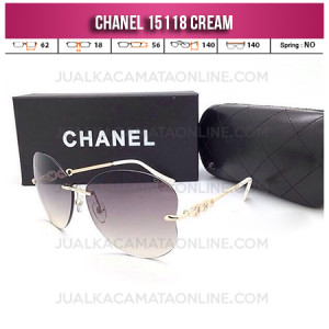 Model Kacamata Chanel Terbaru 15118 Cream
