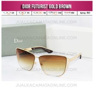 Jual Kacamata Dior Futurist Gold Brown