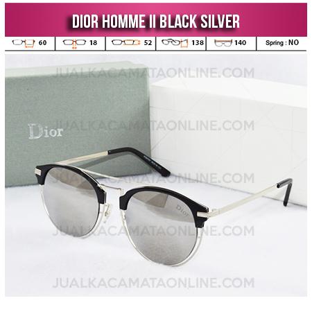 Model Kacamata Wanita Terbaru Dior Homme II Black Silver