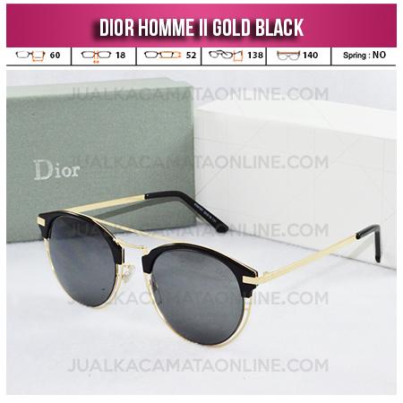 Kacamata Wanita Terbaru Dior Homme II Gold Black