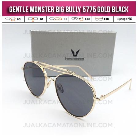Jual Kacamata Korea Gentle Monster Big Bully Gold Black