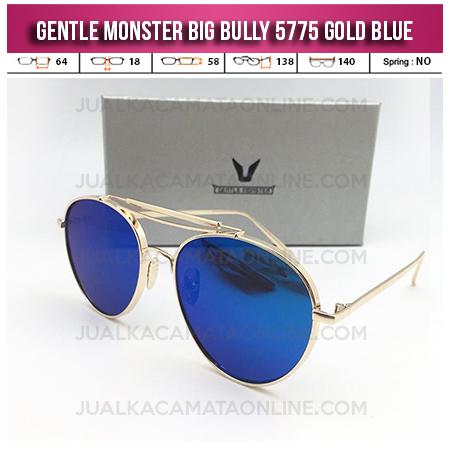 Model Kacamata Korea Terbaru Gentle Monster Big Bully Gold Blue