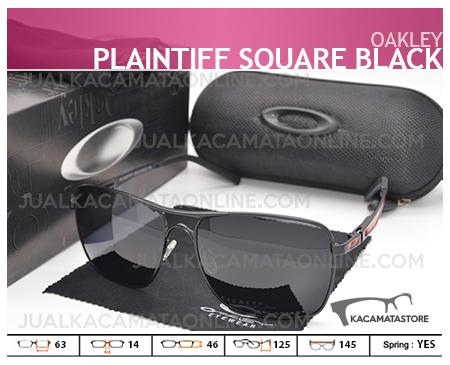 Jual Kacamata Pria Oakley Plaitiff Square Black