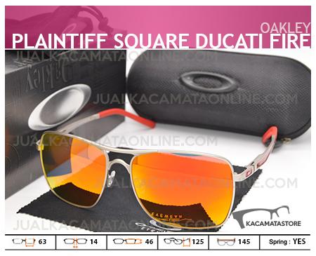 Jual Kacamata Pria Oakley Plaitiff Square Ducati Fire