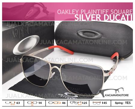 Jual Kacamata Pria Oakley Plaitiff Square Silver Ducati