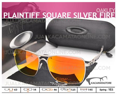 Jual Kacamata Pria Oakley Plaitiff Square Silver Fire