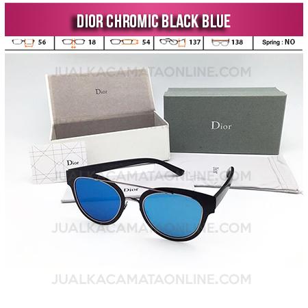 Harga Kacamata Wanita Terbaru Dior Chromic Black Blue