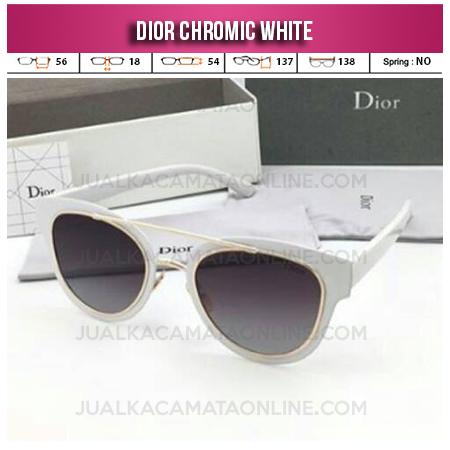 Model Kacamata Wanita Terbaru Dior Chromic White