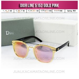 Jual Kacamata Wanita Terbaru Dior Line 5153 Gold Pink