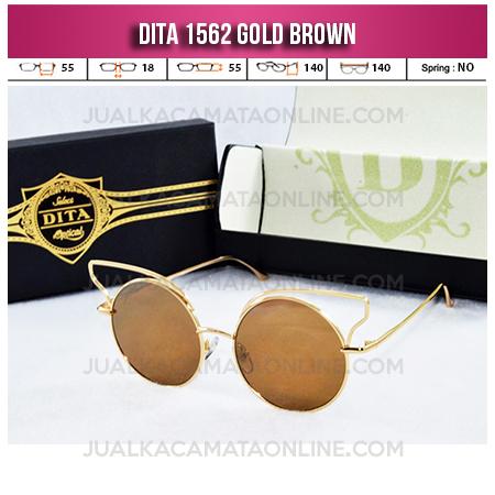 Jual Kacamata Wanita Terbaru Dita 1562 Gold Brown