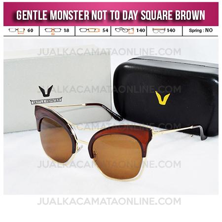 Model Kacamata Gentle Monster Not To Day II Brown