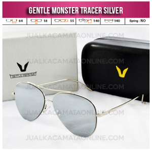 Kacamata Gentle Monster Tracer Aviator Silver Toko Kacamata Wanita Terbaru