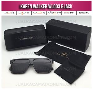 Harga Kacamata Karen Walker WL003 Black