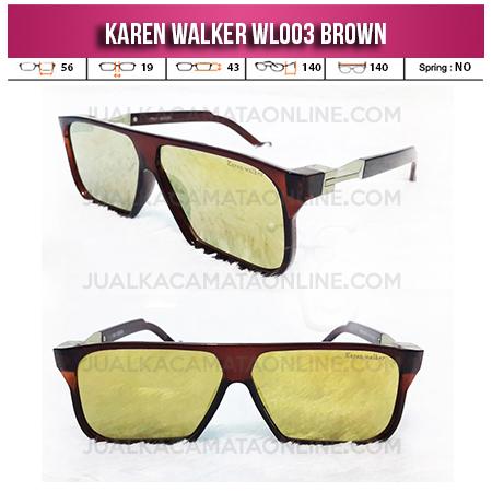 Toko Kacamata Karen Walker WL003 Brown
