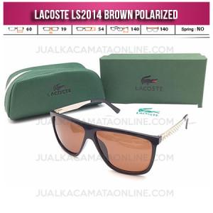 Model Kacamata Lacoste LS2014 Polarized Brown