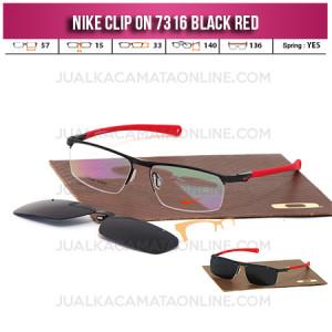 Jual Frame Kacamata Nike 7316 Clip On Black Red
