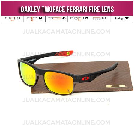 Jual Kacamata Oakley Twoface Ferrari Edition Fire Lens