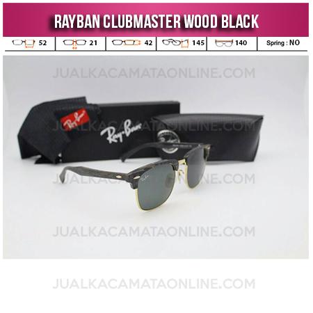 Harga Kacamata Rayban Clubmaster Wood Black
