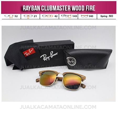 Model Kacamata Rayban Clubmaster Wood Fire
