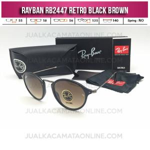 Model Kacamata Rayban Terbaru Retro RB2447 Black Brown