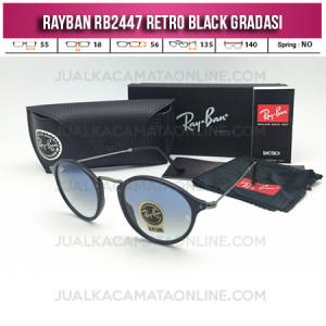 Harga Kacamata Rayban Retro RB2447 Black Gradasi