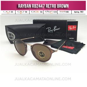 Toko Kacamata Online Rayban Retro RB2447 Brown