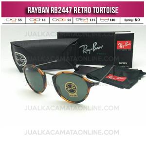 Grosir Kacamata Rayban Retro RB2447 Tortoise