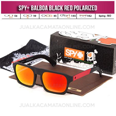 Jual Kacamata Spy Balboa Black Red Fire Terbaru