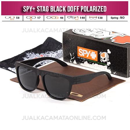 Jual Kacamata Spy Stag Black Doff Polarized Terbaru
