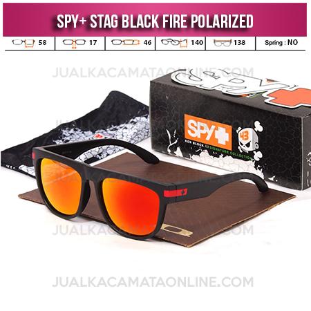 Jual Kacamata Spy Stag Black Red Fire Polarized Terbaru