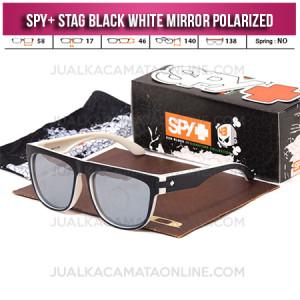 Jual Kacamata Spy Stag Black White Mirror Polarized Terbaru