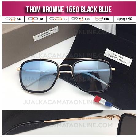 Harga Kacamata Thom Browne Square 1550 Black Blue