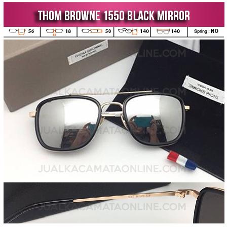 Jual Kacamata Thom Browne Square 1550 Black Mirror