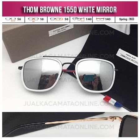 Jual Kacamata Thom Browne Square 1550 White Mirror