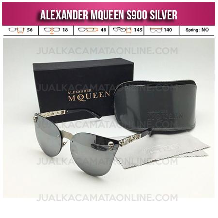 Jual Kacamata Wanita Terbaru Alexander Mqueen S900 Silver