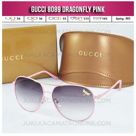 Toko Kacamata Gucci Dragonfly 8089 Pink