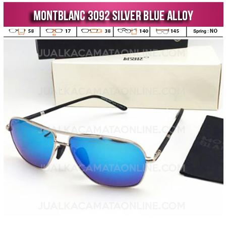 Jual Kacamata Mont Blanc 3092 Silver Blue