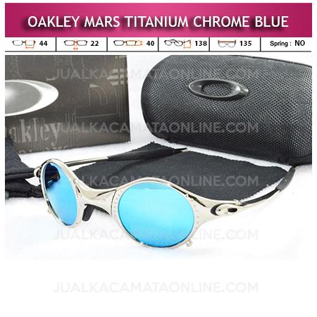Toko Kacamata Oakley Mars Titanium Polarized Chrome Blue