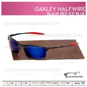 Jual Kacamata Pria Oakley Halfwire Black Red Ice Blue