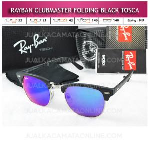 Jual Kacamata Rayban Clubmaster Folding Black Tosca