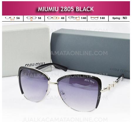 Toko Kacamata Miu Miu 2805 Black