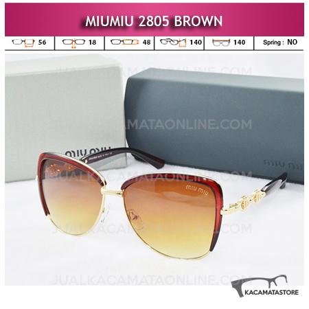 Model Kacamata Miu Miu 2805 Brown