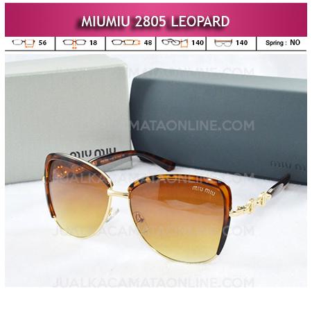 Jual Kacamata Miu Miu 2805 Leopard