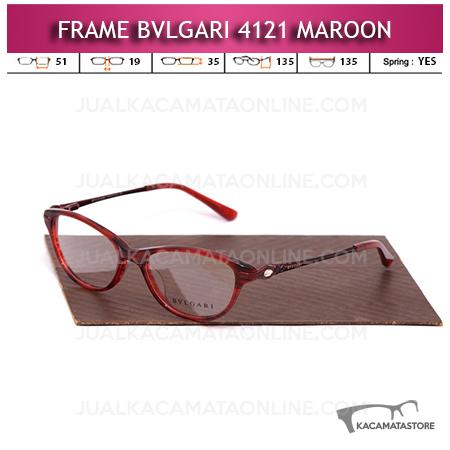 Jual Frame Kacamata Bvlgari 4121 Maroon