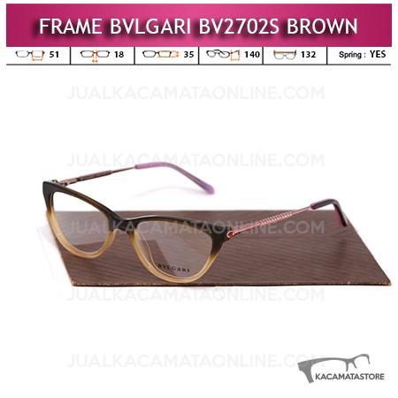 Model Frame Kacamata Bvlgari BV2702S Brown
