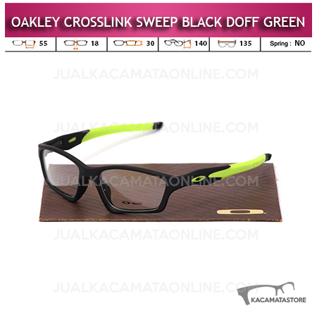 Jual Frame Kacamata Oakley Crosslink Sweep Black Doff Green