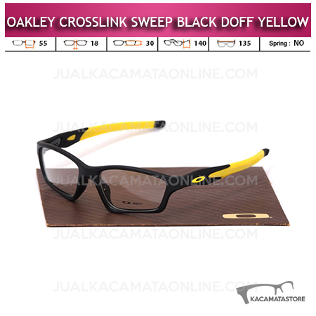 Jual Frame Kacamata Oakley Crosslink Sweep Black Doff Yellow